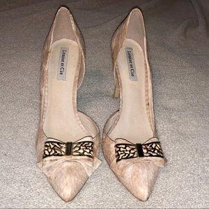 Louise et Cie d'orsay snakeprint heel
